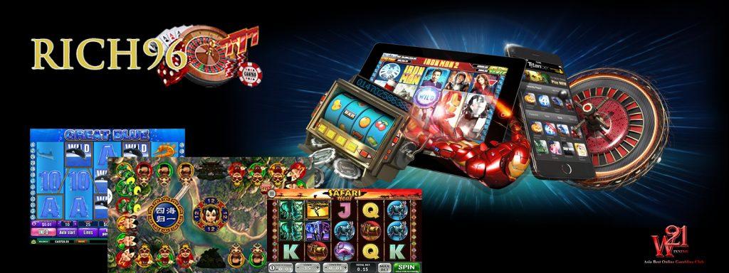 オンラインカジノのスロットマシーン